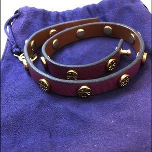 Tory Burch double strap logo bracelet